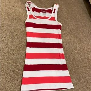 Striped tank ( red)
